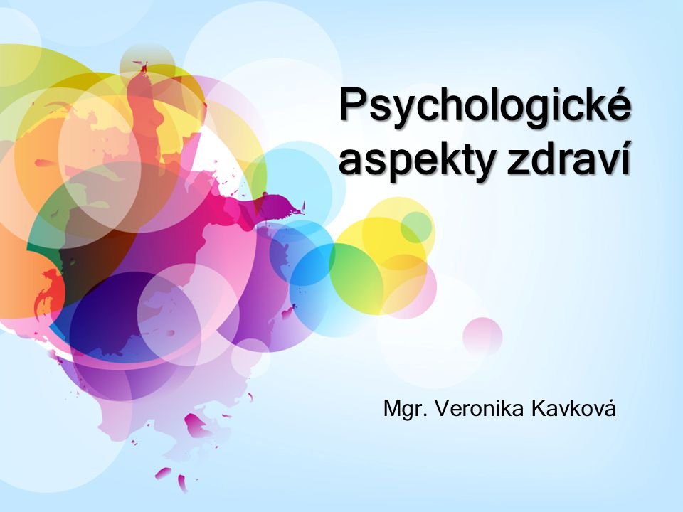 Psychologické aspekty zdraví