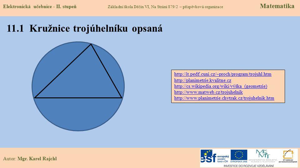 11.1 Kružnice trojúhelníku opsaná