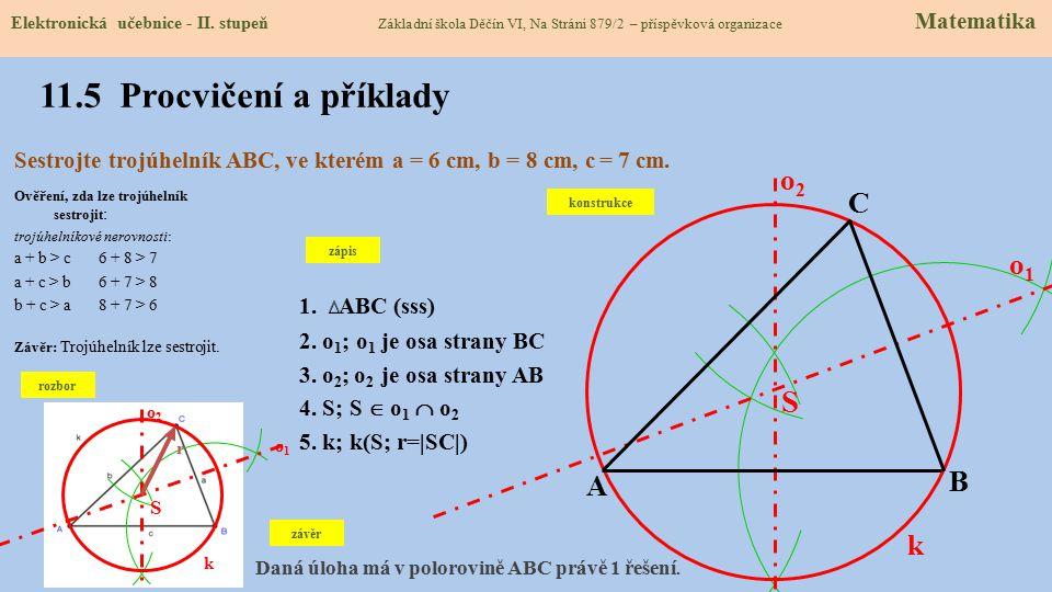 11.5 Procvičení a příklady S o2 C o1 B A k