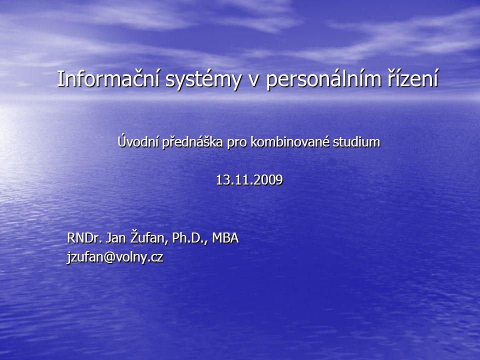 Informační systémy v personálním řízení
