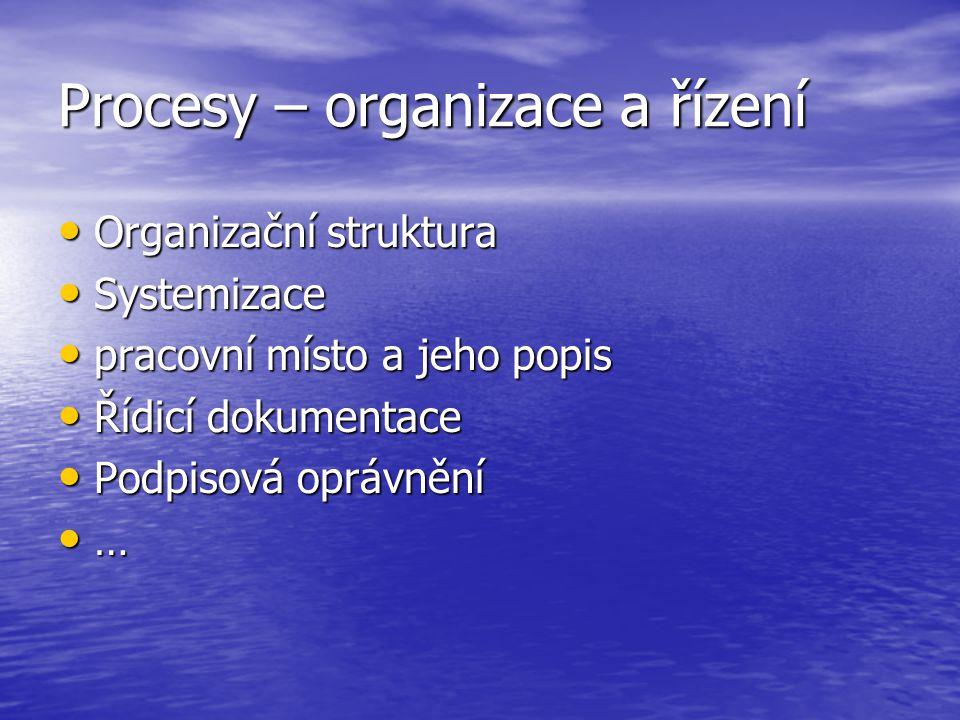 Procesy – organizace a řízení