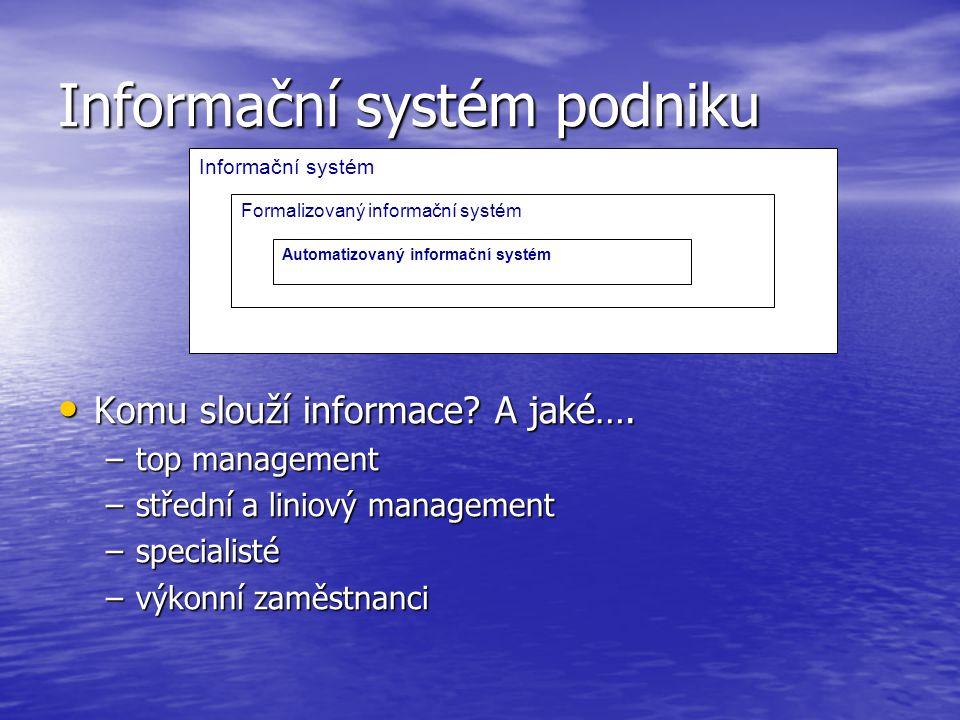 Informační systém podniku