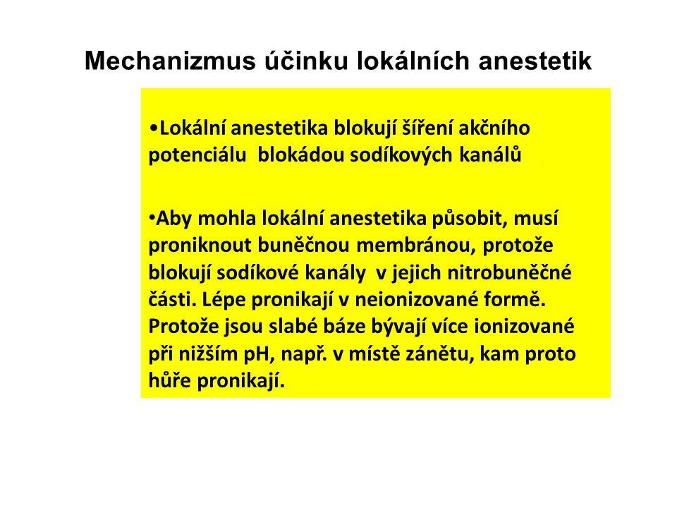Mechanizmus účinku lokálních anestetik