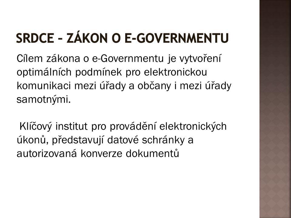Srdce – Zákon o e-governmentu
