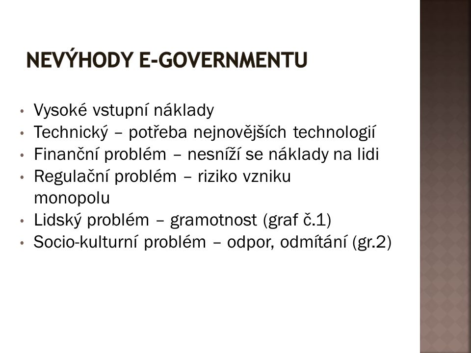 Nevýhody e-governmentu
