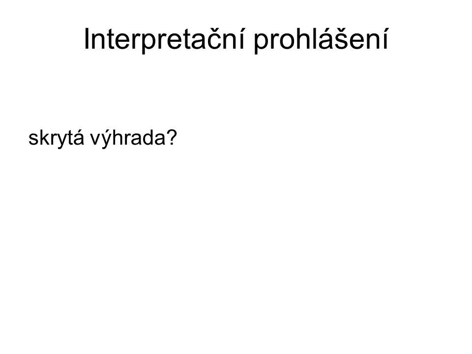 Interpretační prohlášení