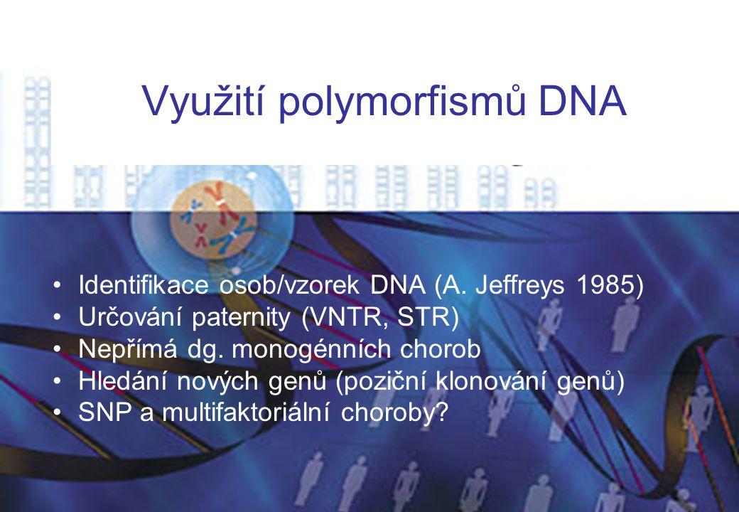 Využití polymorfismů DNA