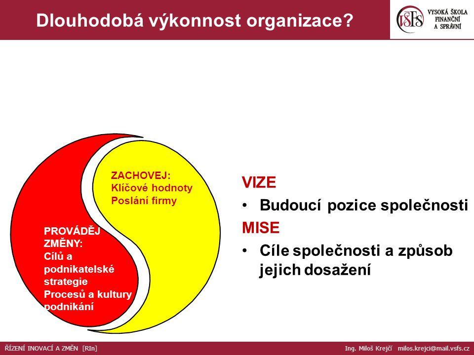 Dlouhodobá výkonnost organizace