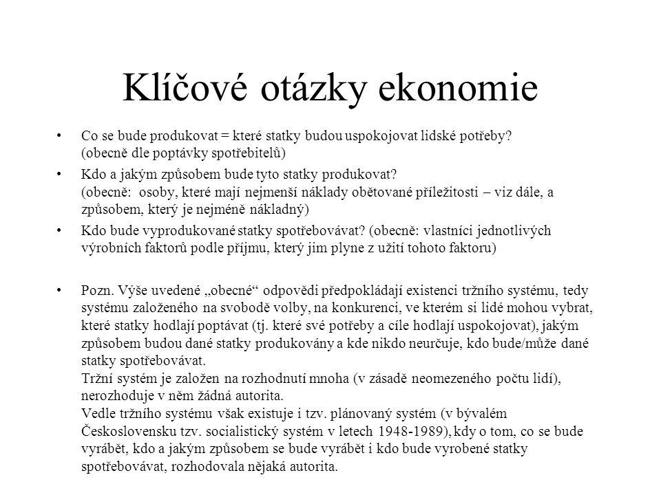 Klíčové otázky ekonomie