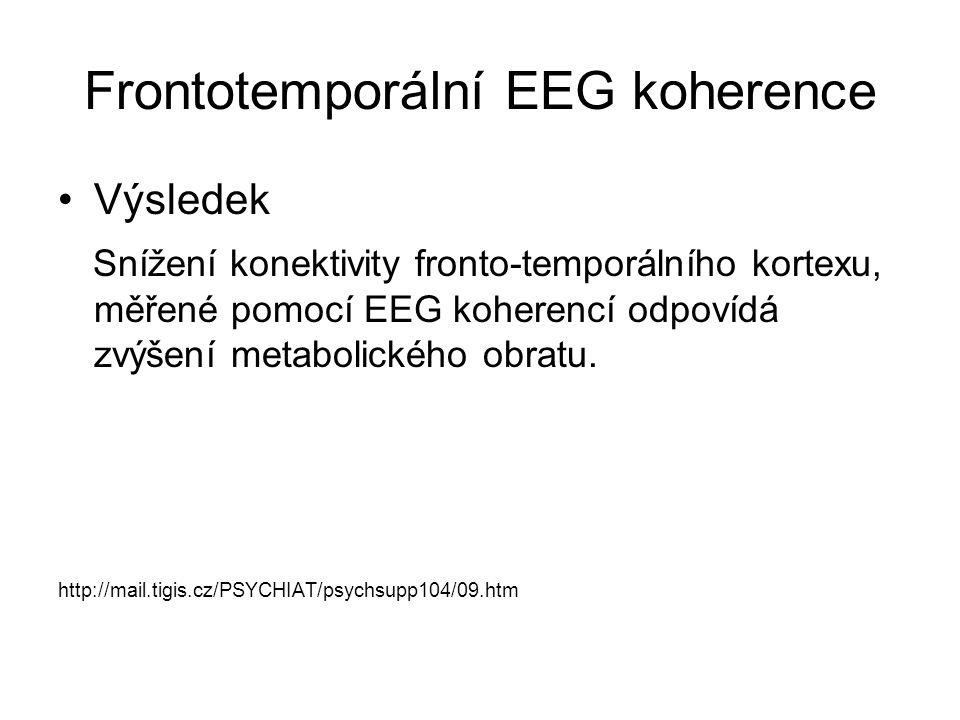Frontotemporální EEG koherence