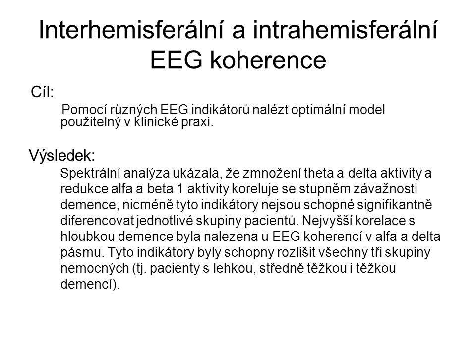 Interhemisferální a intrahemisferální EEG koherence
