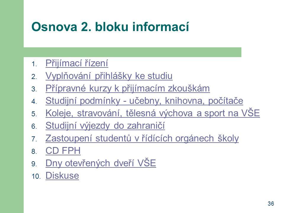 Osnova 2. bloku informací