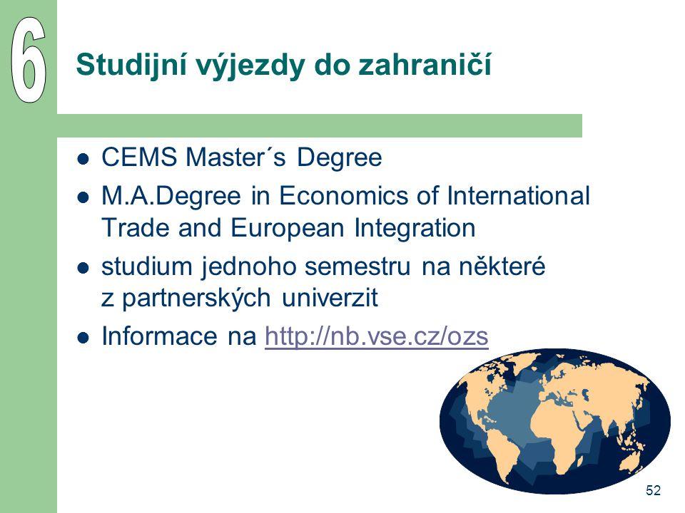 Studijní výjezdy do zahraničí