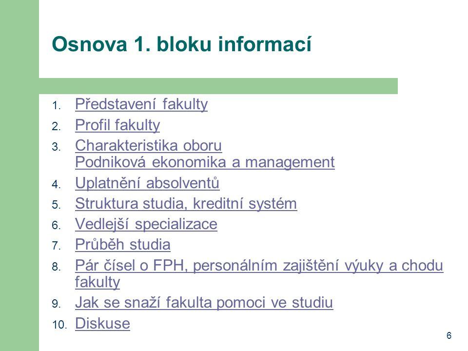 Osnova 1. bloku informací