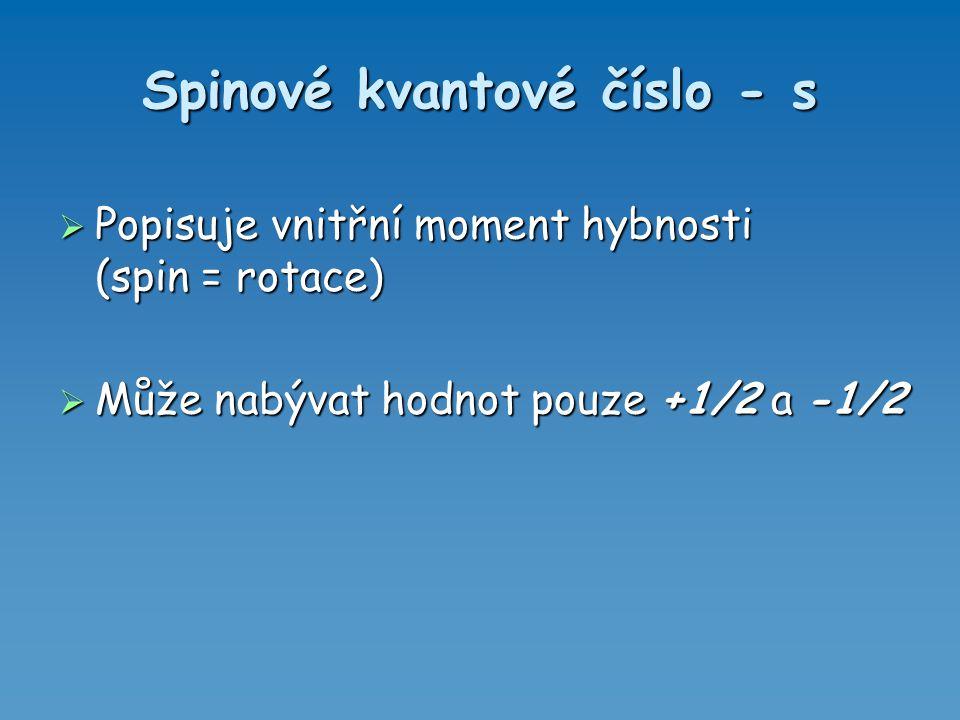 Spinové kvantové číslo - s