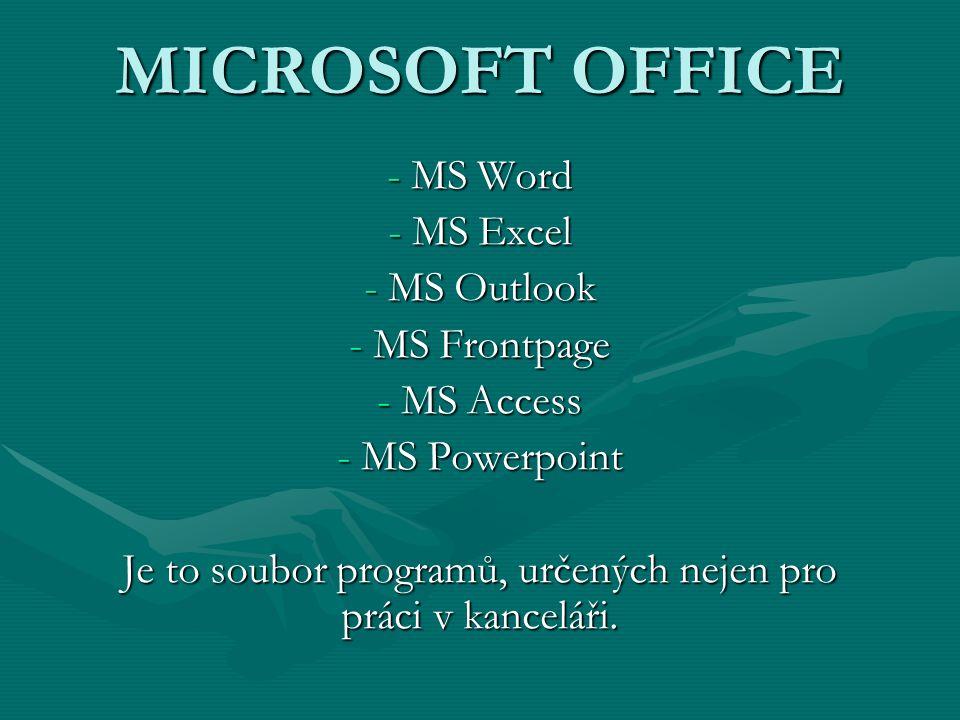 Je to soubor programů, určených nejen pro práci v kanceláři.