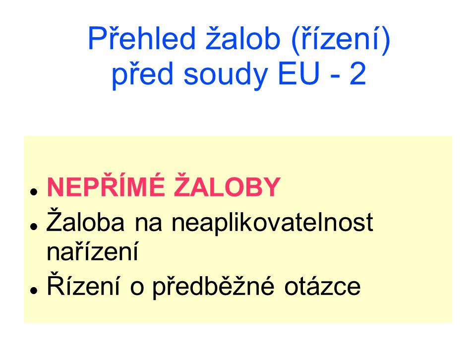 Přehled žalob (řízení) před soudy EU - 2