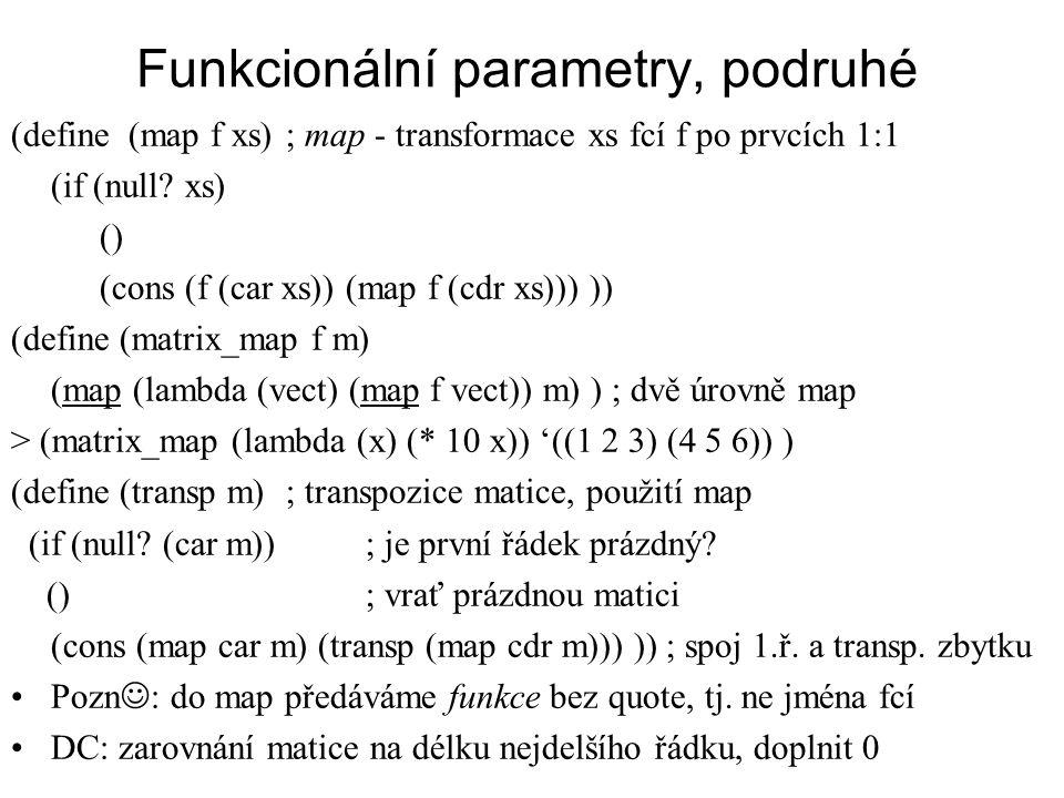 Funkcionální parametry, podruhé
