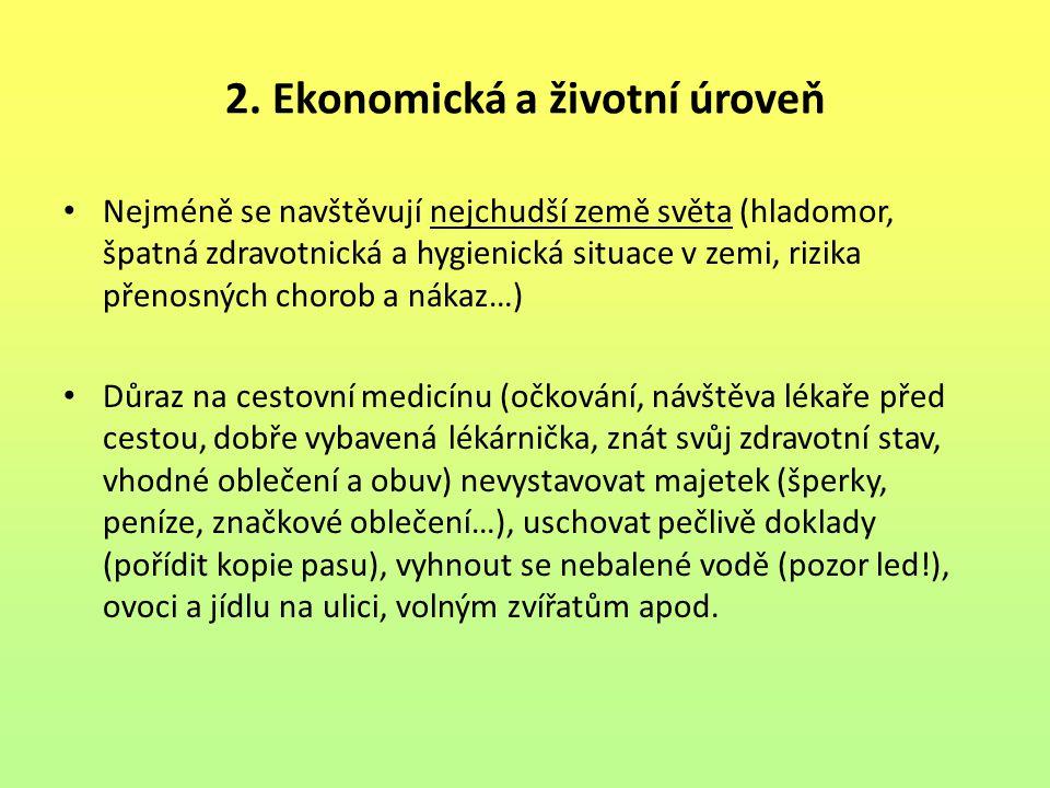 2. Ekonomická a životní úroveň