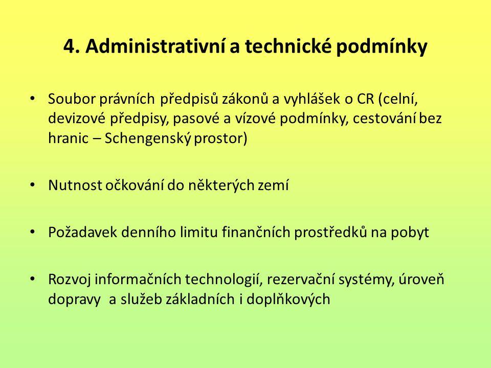 4. Administrativní a technické podmínky