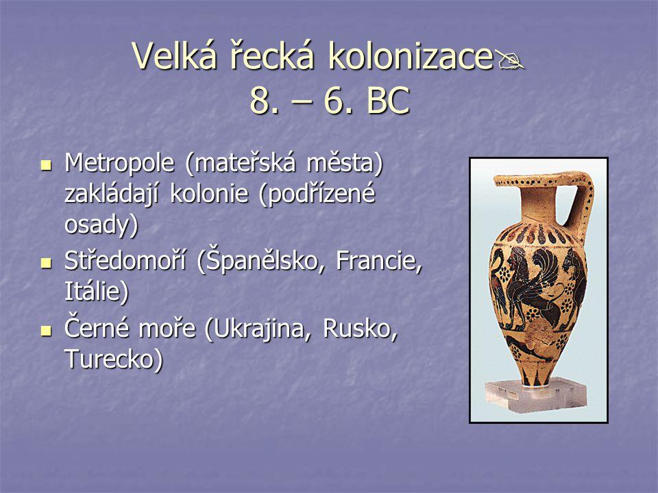 Velká řecká kolonizace 8. – 6. BC