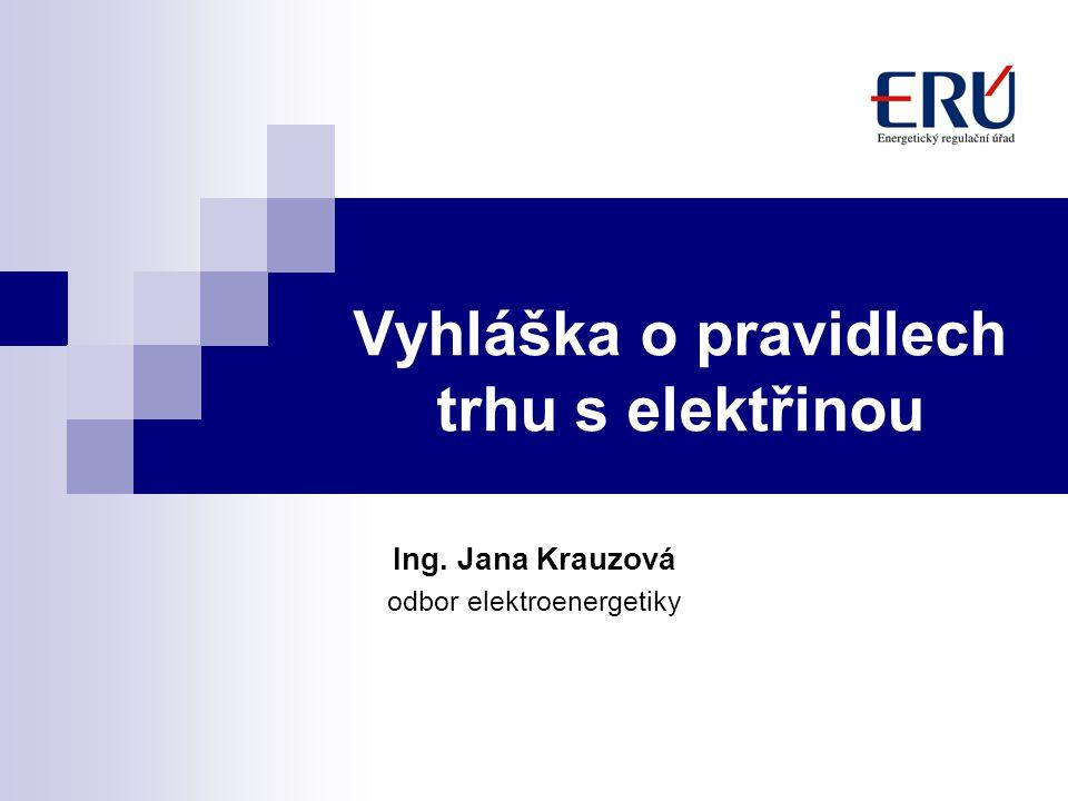 Vyhláška o pravidlech trhu s elektřinou