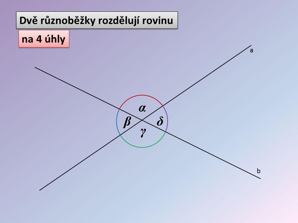 Dvě různoběžky rozdělují rovinu