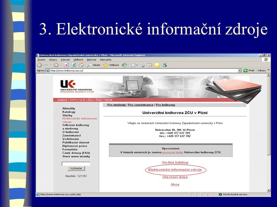 3. Elektronické informační zdroje