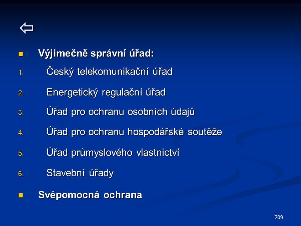  Výjimečně správní úřad: Český telekomunikační úřad