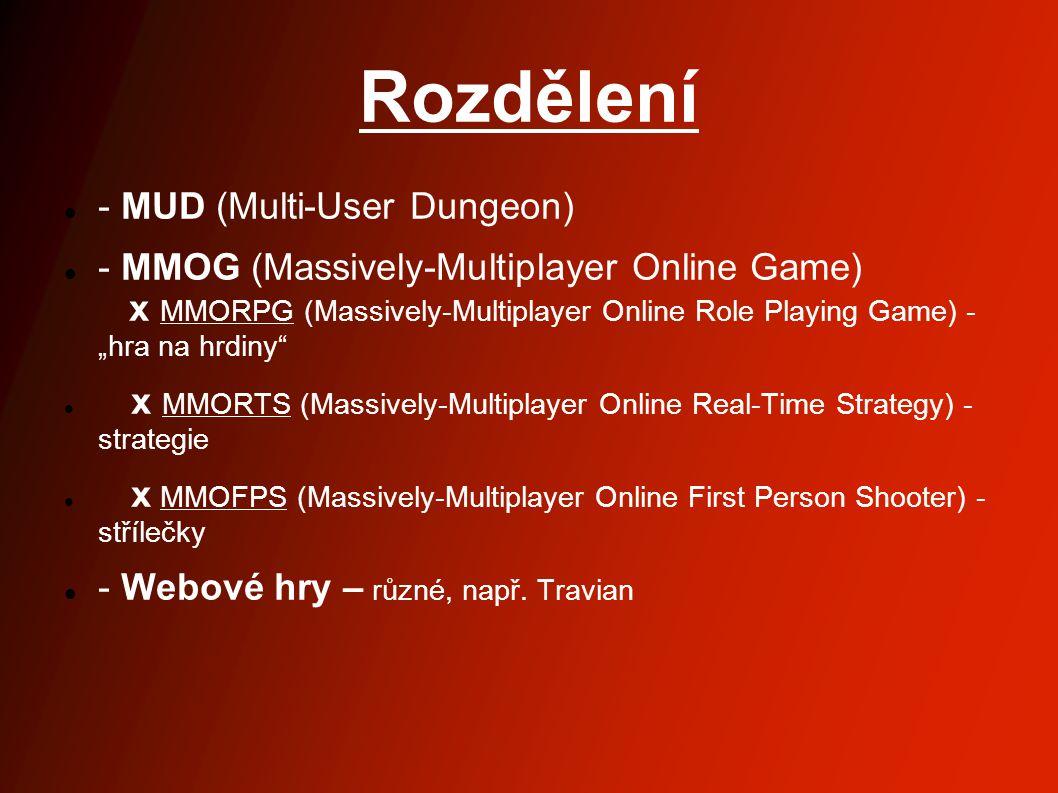 Rozdělení - MUD (Multi-User Dungeon)