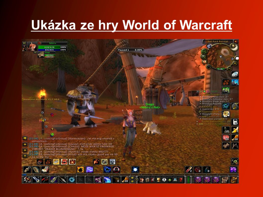 Ukázka ze hry World of Warcraft
