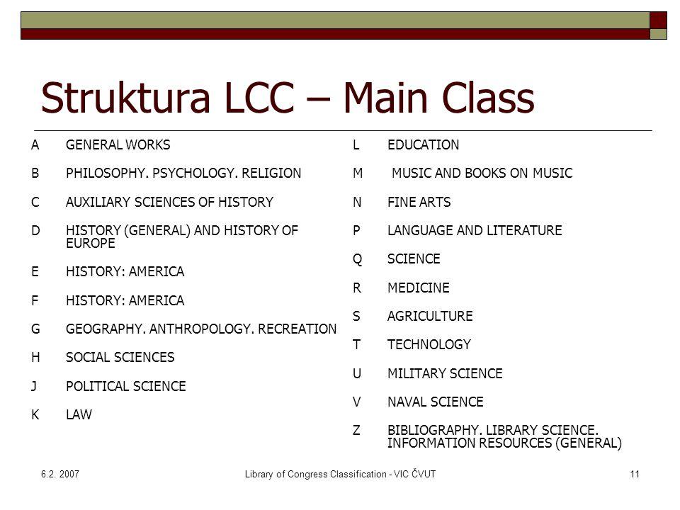 Struktura LCC – Main Class