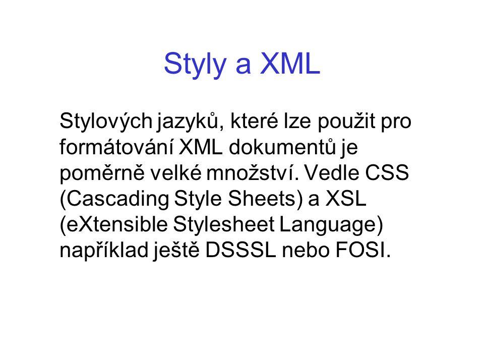 Styly a XML