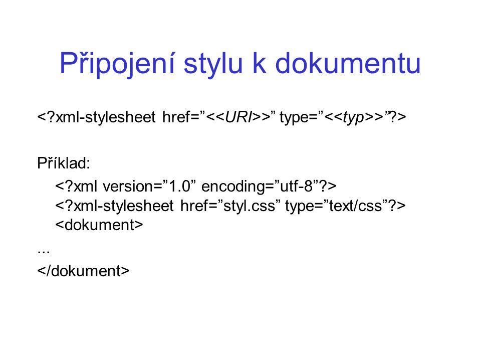 Připojení stylu k dokumentu