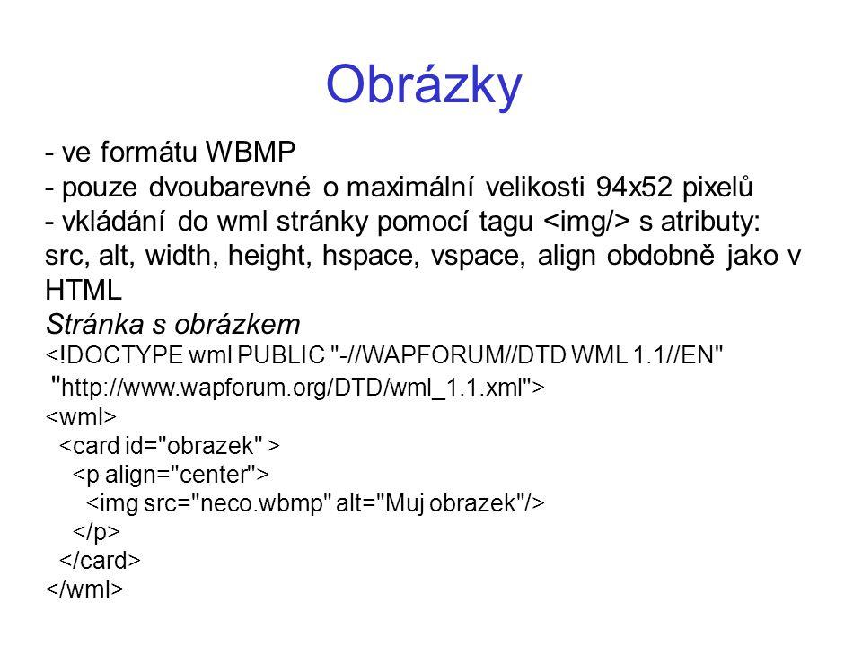 Obrázky - ve formátu WBMP