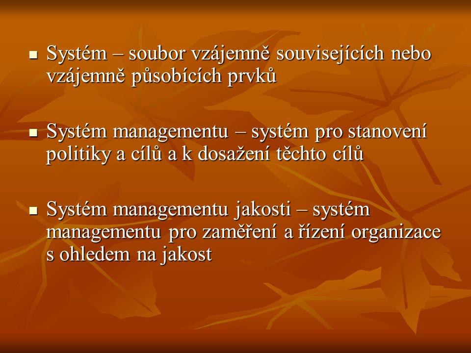 Systém – soubor vzájemně souvisejících nebo vzájemně působících prvků