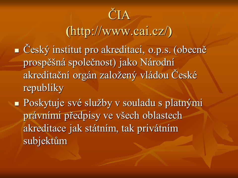ČIA (http://www.cai.cz/)