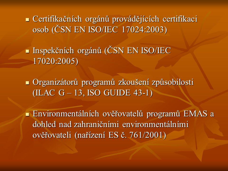 Certifikačních orgánů provádějících certifikaci osob (ČSN EN ISO/IEC 17024:2003)