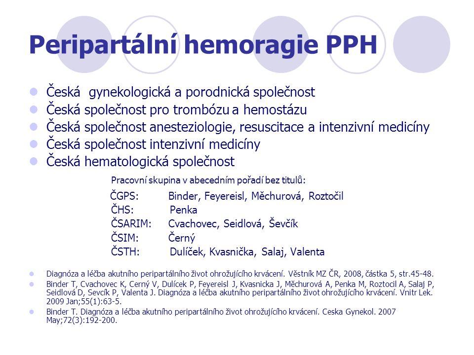Peripartální hemoragie PPH