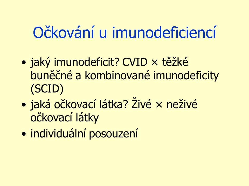 Očkování u imunodeficiencí