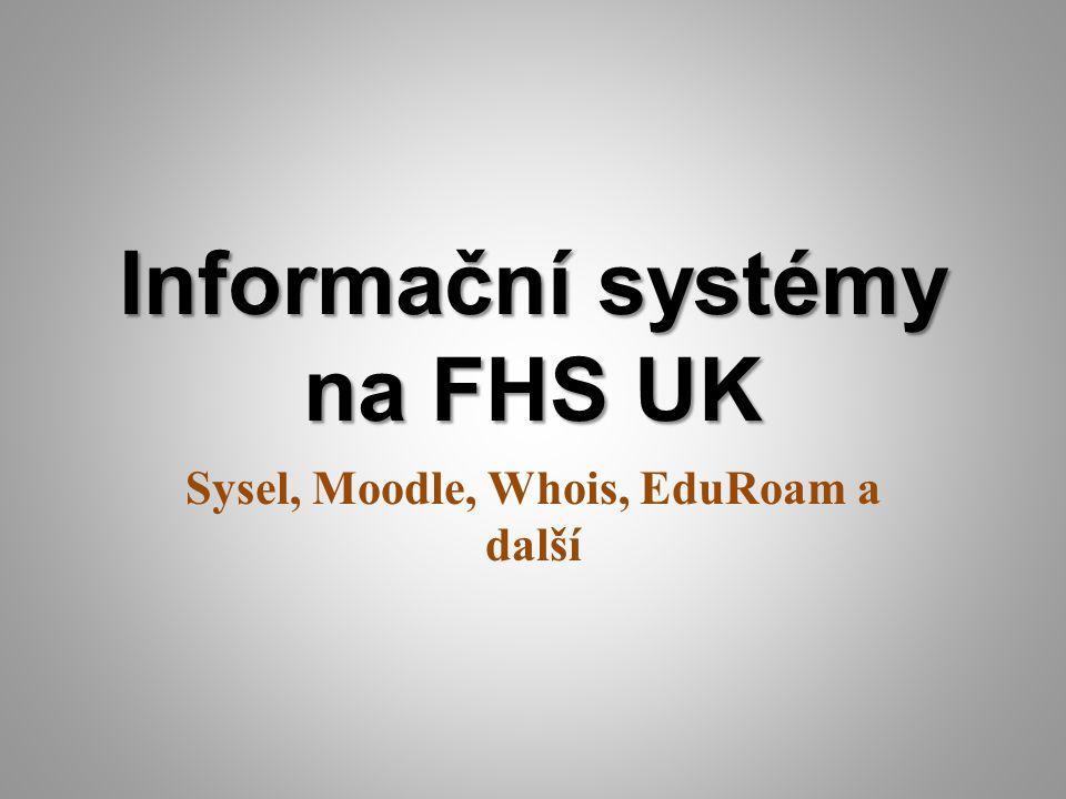 Informační systémy na FHS UK