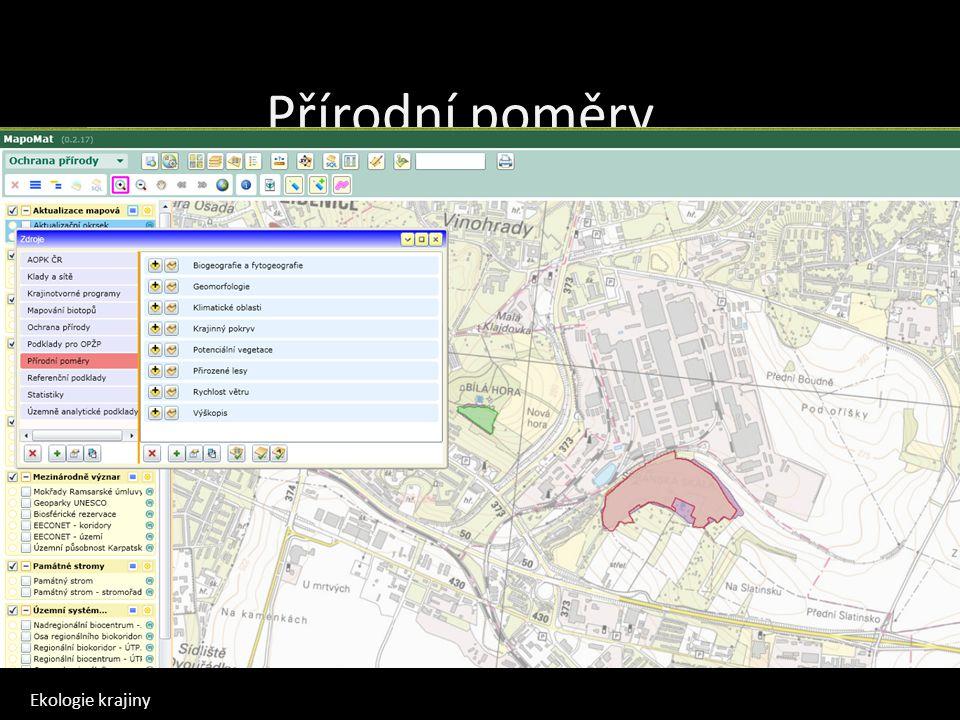 Přírodní poměry Mapomat Mapa potenciální vegetace