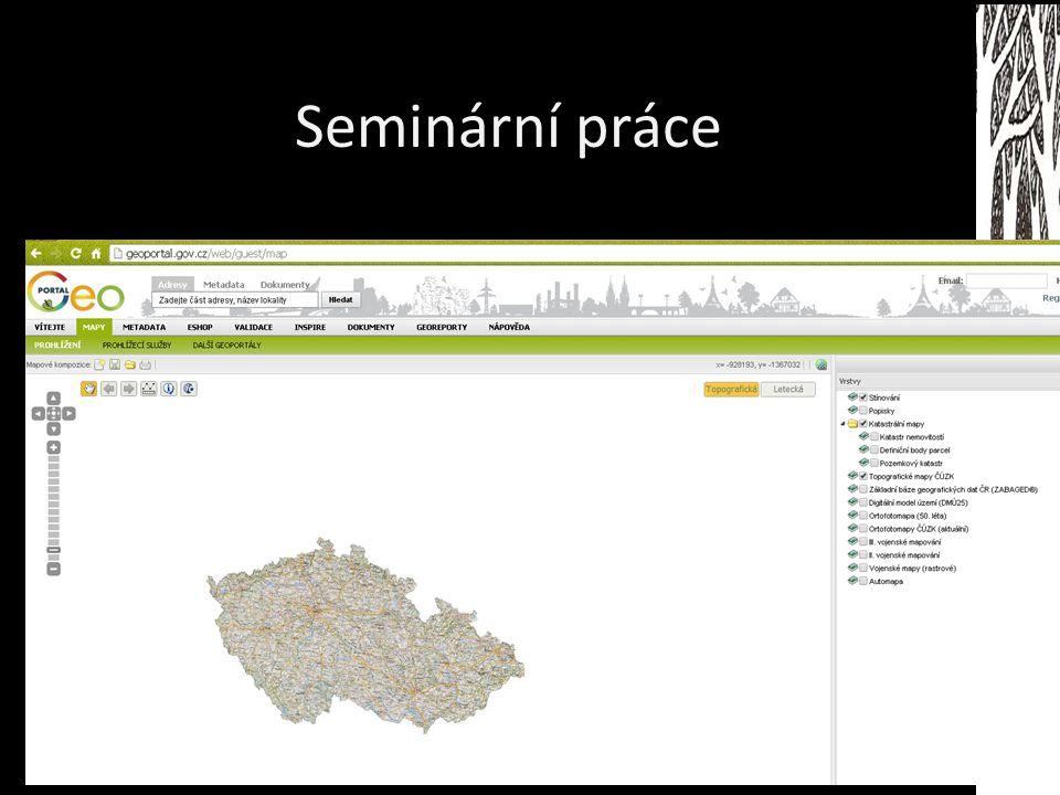 Seminární práce Mapomat Mapa potenciální vegetace