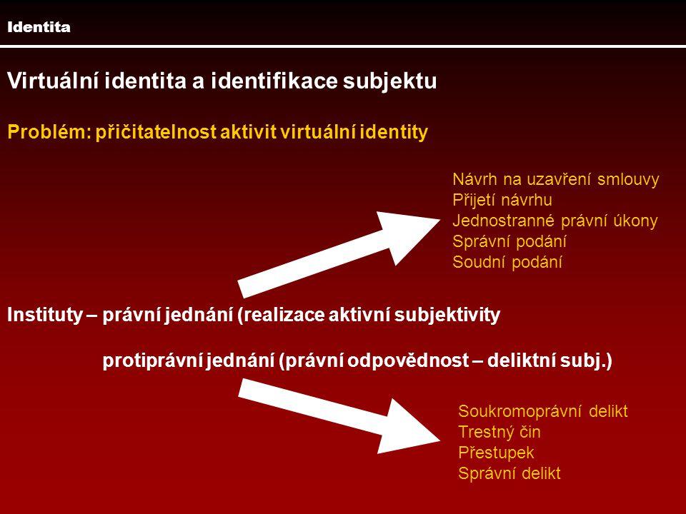 Virtuální identita a identifikace subjektu