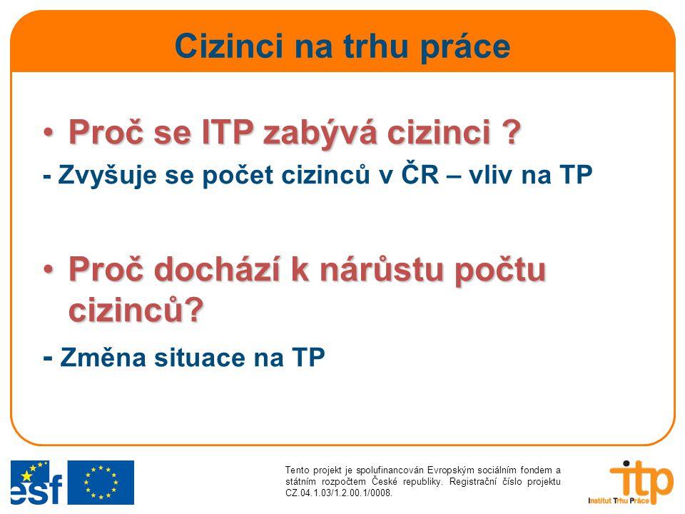 Proč se ITP zabývá cizinci