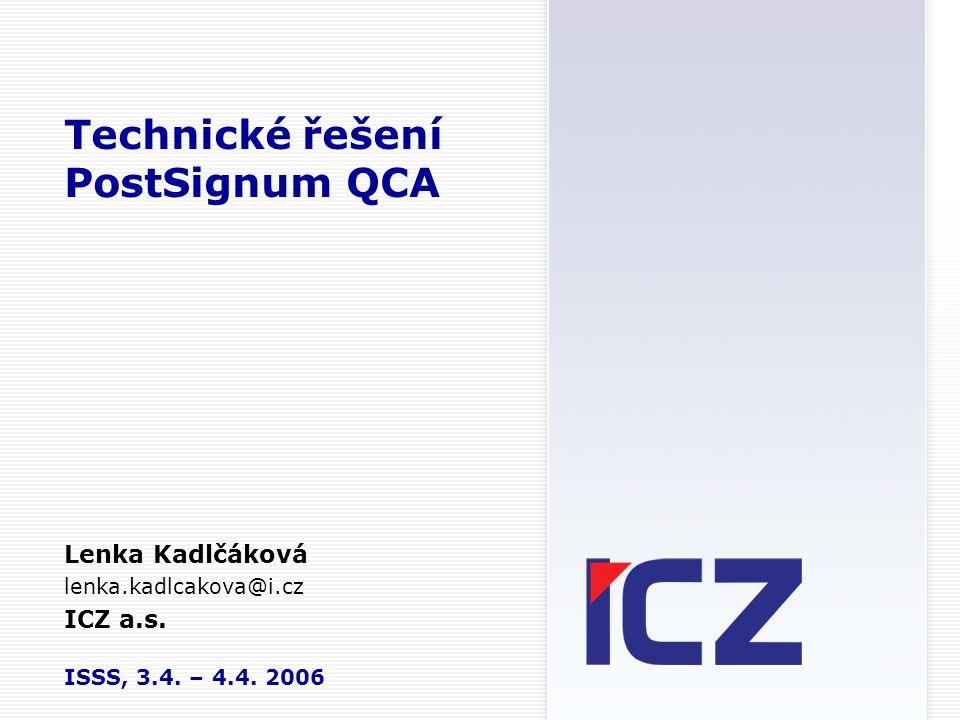 Technické řešení PostSignum QCA