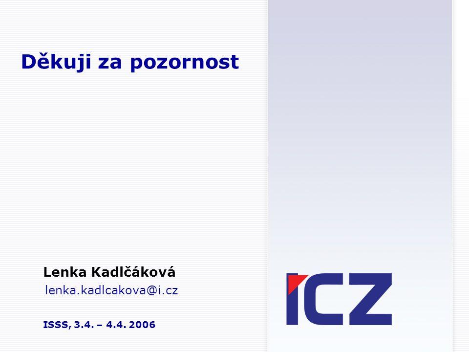 Lenka Kadlčáková lenka.kadlcakova@i.cz