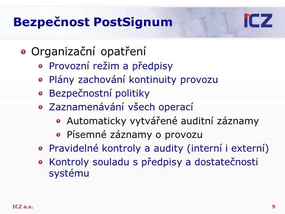 Bezpečnost PostSignum