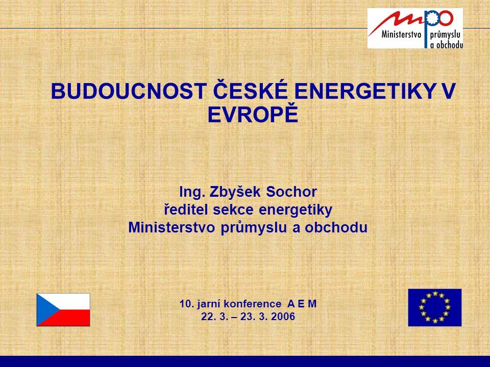 BUDOUCNOST ČESKÉ ENERGETIKY V EVROPĚ