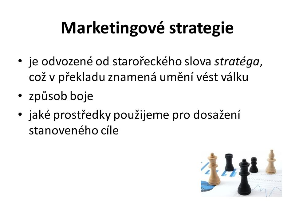 Marketingové strategie